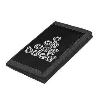Thai Numbers Pyramid ♦ Thai Language Script ♦ Trifold Wallet