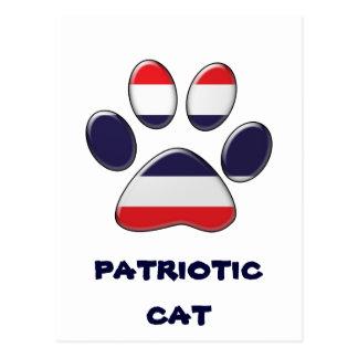 Thai patriotic cat postcard