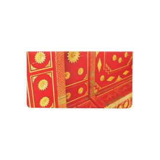 Thai Pavillion Ceiling Checkbook Cover