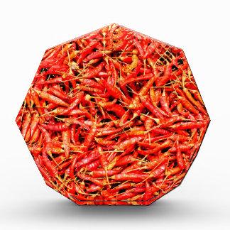 Thai peppers acrylic award