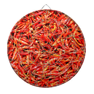 Thai peppers dartboard with darts