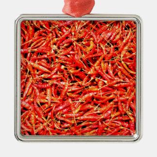 Thai peppers metal ornament
