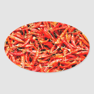 Thai peppers oval sticker
