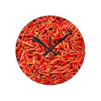 Thai peppers round clock