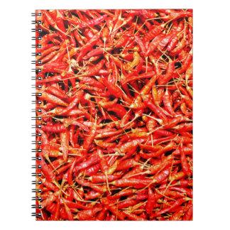 Thai peppers spiral notebook