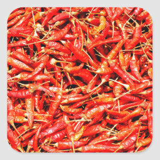 Thai peppers square sticker