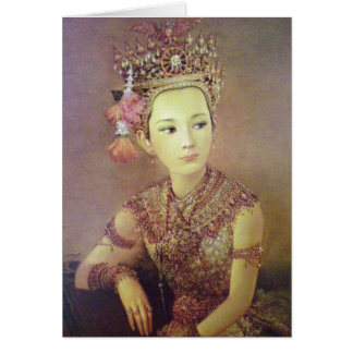 Thai portrait greeting card