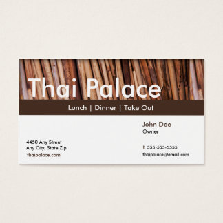 Thai Restaurant Business Card