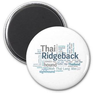 Thai Ridgeback 2 Inch Round Magnet