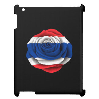 Thai Rose Flag on Black Cover For The iPad 2 3 4