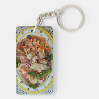 Thai Spicy Sausage Salad ... Asian Street Food Keychain