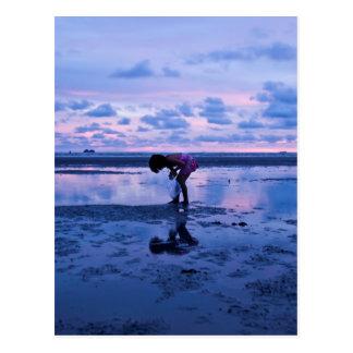 thai sunset beach postcard