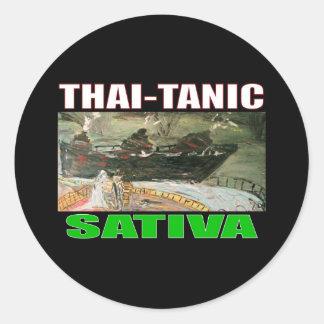 THAI TANIC SATIVA ROUND STICKER