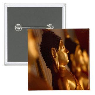Thai Temple Buddha Statues Photo Button