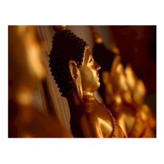 Thai Temple Buddha Statues Photo Postcard