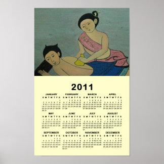 Thai Traditional Massage 2011 Calendar Poster