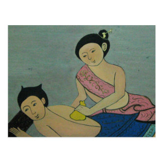 Thai Traditional Massage Postcard