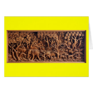 Thai Wood Carving - Blank Greeting Card