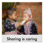 thailand 910, Sharing is caring Poster