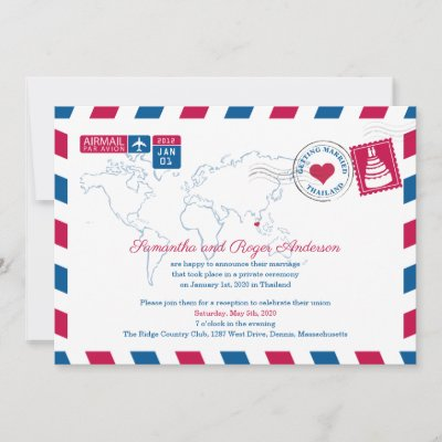 Thailand Air Mail Save the Date