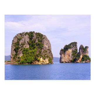 Thailand, Andaman Sea. Ao Phang Nga Islands in 2 Postcard