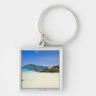 Thailand, Andaman Sea. Ko Miang Island Similan Silver-Colored Square Keychain