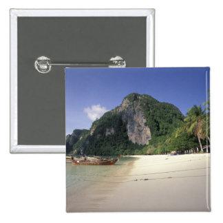 Thailand, Andaman Sea, Ko Phi Phi Island, Beach Pinback Button
