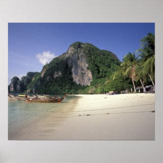 Thailand, Andaman Sea, Ko Phi Phi Island, Beach Poster