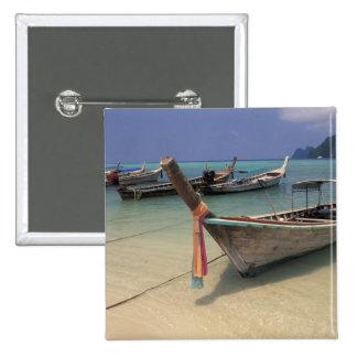 Thailand, Andaman Sea, Ko Phi Phi Island, Pinback Button