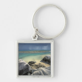 Thailand, Andaman Sea, Ko Phi Phi Island, Scenic Silver-Colored Square Keychain