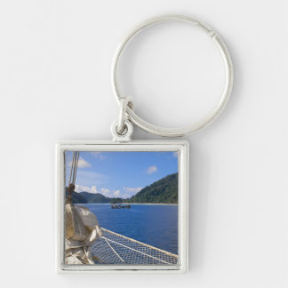 Thailand, Andaman Sea. Star Fyer clipper ship Silver-Colored Square Keychain