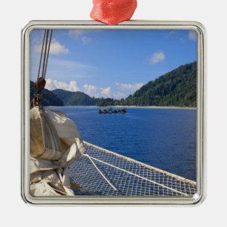 Thailand, Andaman Sea. Star Fyer clipper ship Metal Ornament