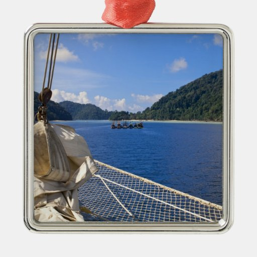 Thailand, Andaman Sea. Star Fyer clipper ship Christmas Ornaments