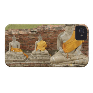 Thailand, Ayutthaya. Statues of sitting buddhas iPhone 4 Case