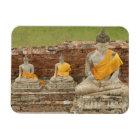 Thailand, Ayutthaya. Statues of sitting buddhas Magnet