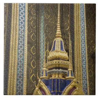 Thailand, Bangkok. Details of ornately decorated Ceramic Tile