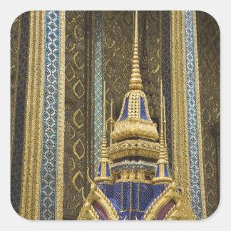 Thailand, Bangkok. Details of ornately decorated Square Sticker