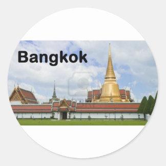 thailand bangkok grand palace wat phra kaew (St.K) Classic Round Sticker