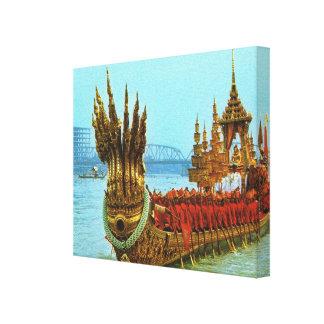 Thailand, Bangkok, Royal Barge Canvas Print