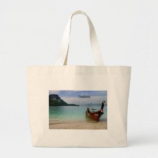 Thailand beach in Krabi (St.K) Large Tote Bag