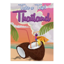 Thailand beach vacation poster