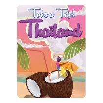 Thailand beach vacation poster invitation