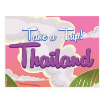 Thailand beach vacation poster postcard