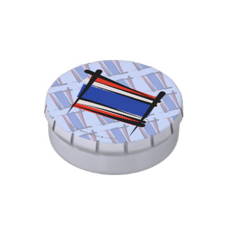 Thailand Brush Flag Jelly Belly Candy Tin
