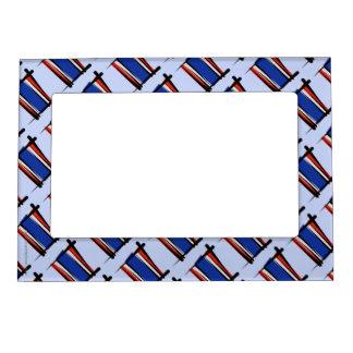 Thailand Brush Flag Magnetic Frame