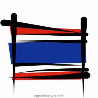 Thailand Brush Flag Statuette