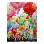 Thailand Buddhist Temple Celebration Post Card