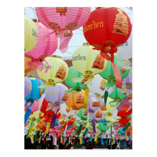 Thailand Buddhist Temple Celebration Post Card