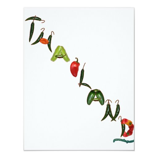 Thailand Chili Peppers 4.25x5.5 Paper Invitation Card