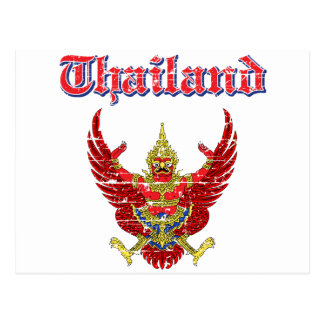 Thailand coat of arms designs postcard
